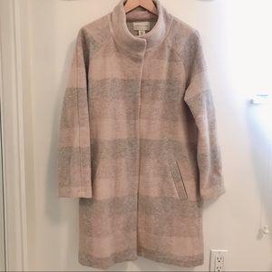 Adrienne Vittadini blush and cream wool coat